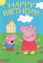 Hallmark Interactive Birthday Card Girl Peppa