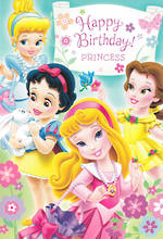 Hallmark Interactive Birthday Card Girl Princesses Baby
