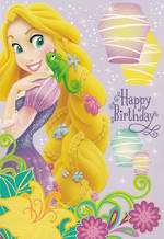 Hallmark Interactive Birthday Card Girl Tangled
