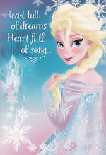 Hallmark Interactive Birthday Card Girl Elsa