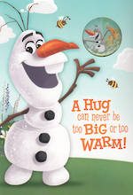 Hallmark Interactive Birthday Card Boy Frozen Olaf Bag tag