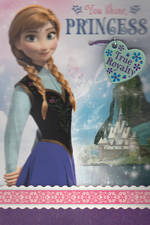 Hallmark Interactive Birthday Card Frozen Anna Necklace