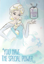 Hallmark Interactive Birthday Card Girl Frozen Elsa