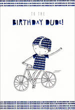 Hallmark Kid's Birthday Card Boy Dude Bike