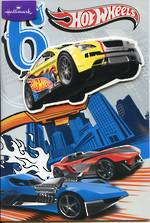 Birthday Age Card 6 Boy Hot Wheels