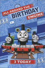Birthday Age Card 3 Boy Thomas Tank