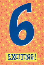 Birthday Age Card 6 Boy Hallmark Exciting