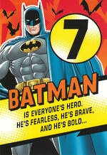 Birthday Age Card 7 Boy Batman