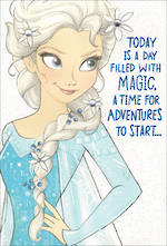 Hallmark Kid's Birthday Card Frozen Elsa