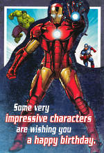 Hallmark Kids' Birthday Card Boy Avengers