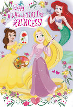 Kids' Birthday Card Girl Princess Large