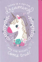 Kids' Birthday Card Girl Hallmark Unicorn Dreaming
