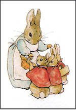 Mini Card Beatrix Potter Mrs Rabbit Flopsy