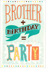 Brother Birthday Card Hallmark Party