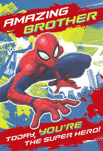 Brother Birthday Card Juvenile Spiderman