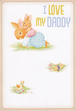 Dad Birthday Card Hallmark Rabbits Daddy