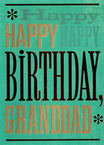 Grandad Birthday Card Hallmark Text Happy Happy