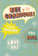 Grandson Birthday Card Hallmark Text Bubbles