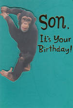 Son Birthday Card Hallmark Large Monkey
