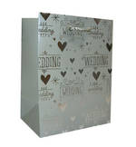 Small Gift Bag Wedding Premium Silver