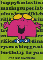 Kids' Birthday Card: Mr Men Little Miss Chatterbox