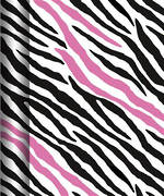 Hallmark Roll Wrap Pink Zebra Box of 12, 3m