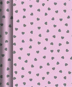 Hallmark Roll Wrap Pink Hearts Box of 24, 3m