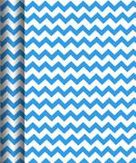 Roll Wrap Value Blue Chevron Box Of 20, 3m
