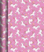 Roll Wrap Value Pink Unicorn Box Of 20, 3m