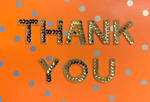 Thank You Card Hallmark Signature Sequin