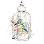 Hallmark Gallery III Sketchbook Birds Cage