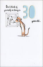 Birthday Age Card 30 General Years Experience