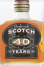 Birthday Age Card 40 Male Scotch Bottle