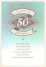 Birthday Age Card 50 Female a Lot