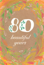 Birthday Age Card 80 Female Hallmark Large Vines