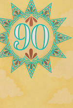 Birthday Age Card 90 Female Sun