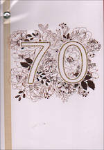 Hallmark Hangsell Age 70 Female Etched Foil