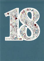 Birthday Age Card 18 Male Icons