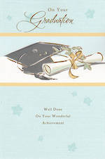Graduation Card Hat & Scroll