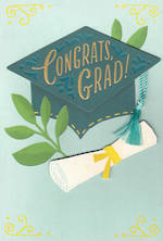 Graduation Card Hallmark Large Hat Scroll