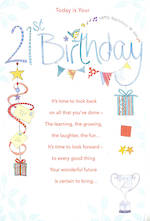 Birthday Age Card 21 Male Song