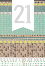 Birthday Age Card 21 Patterns