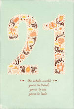 Birthday Age Card 21 Icons