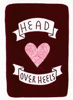 Hallmark Studio Ink Foil Head Over Heels