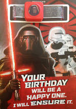 Hallmark Interactive Birthday Card Star Wars Episode VII Kylo Ren Soundband