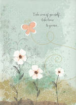 Sympathy Card Thinking of You Hallmark Butterfly