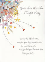 Sympathy Card Thinking of You Hallmark Never More