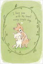 Sympathy Card Thinking of You Hallmark Hug With Heart