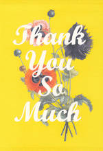 Thank You Card Hallmark Large Yellow