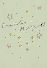 Thank You Card Hallmark Thanks A Million Stars